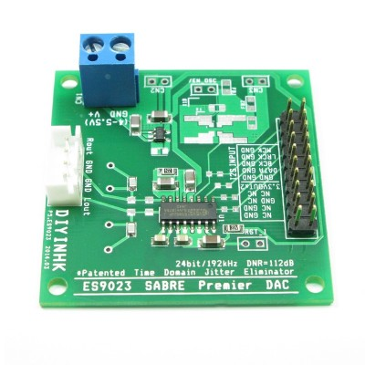 24Bit/192KHz ES9023 DAC, I2S input, Ultra Low Noise Regulator