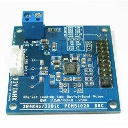 384kHz/32Bit PCM5102A DAC, I2S input, Ultra Low Noise Regulator