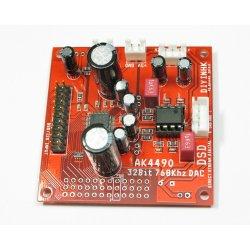 768kHz/32Bit AK4490EQ DAC, I2S/DSD input