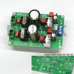 0.8uV Ultralow noise DAC power supply regulator +-9/12/15V 1.5A*x2