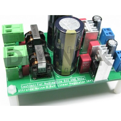 0.8uV Ultralow noise DAC power supply regulator 3.3/5/7V 1.5A*x2