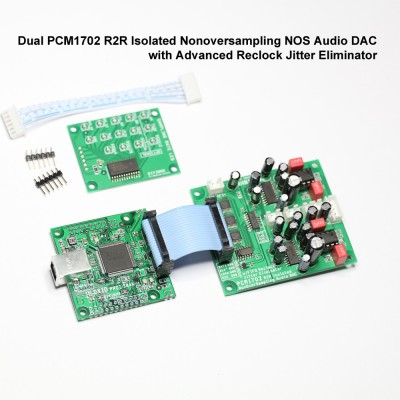 PCM1702 R2R Isolated nonoversampling NOS Audio DAC with FIFO reclock