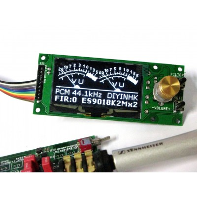 2.42 inch OLED and rotary encoder volume control PCB