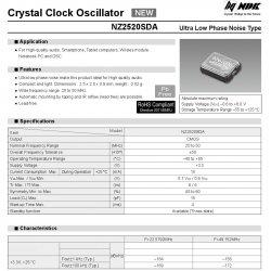 NDK NZ2520SDA 3.3V 49.152Mhz 45.1584Mhz 24.576Mhz 22.5792Mhz Ultra low phase noise oscillator