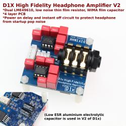 D1X High Fidelity Headphone Amplifier V2